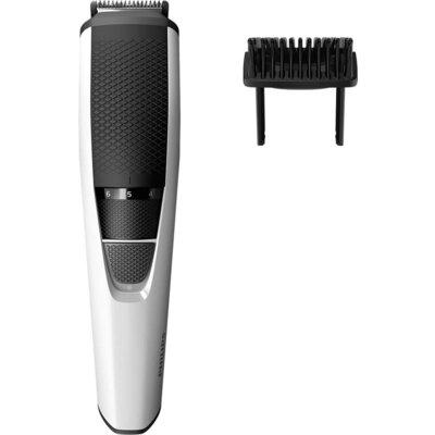 Philips Тример за брада Series 3000, 1 мм прецизни настройки, ножчета от неръждаема стомана, 45 мин. безжична работа/10 ч. зареж