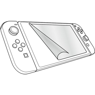 Speedlink GLANCE Screen Protection Kit - for Nintendo Switch, Crystal-clear film, Includes microfibre screen-cleaning cloth, Squ