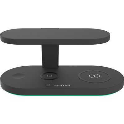 CANYON WS-501 5in1 Wireless charger, with UV sterilizer, with touch button for Running water light, Input QC24W or PD36W, Output