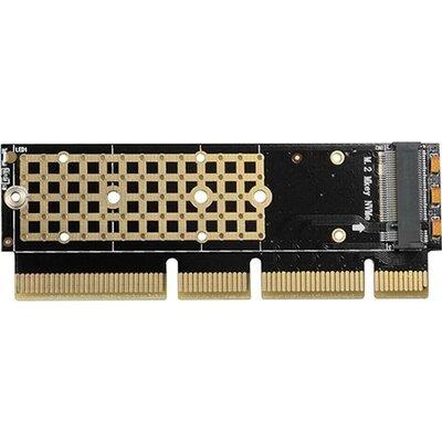 AXAGON PCEM2-1U PCI-E 3.0 16x - M.2 SSD NVMe, up to 80mm SSD, low profile 1U