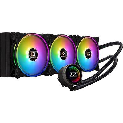 Xigmatek Aurora AIO Liquid Cooler 360mm ARGB MB SYNC EN42814; Intel: LGA 2066/2011-v3/2011/1366/115x; AMD: TR4/AM4/AM3+/AM3/AM2+
