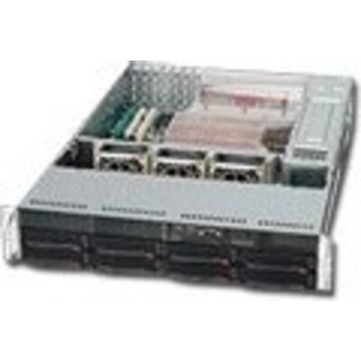 "Chassis SUPERMICRO SuperChassis CSE-825TQ-R720LPB, 2U Rack-Mountable, 8x3.5"" HS HDD bays, 2x3.5"" fixed HDD bays, opt."