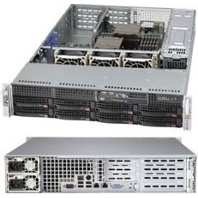 Supermicro server chassis Rackmount 2U w/ 500W Redundant 80 Plus Platinum Level Certified Power Supply w/ PMBus, for Motherboard