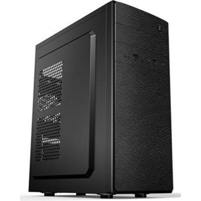Chassis GOLDEN FIELD E182 Midi Tower, ATX, 7 slots, Audio Interface, USB 2.0, Steel 0.5 mm, PSU 550W ,120mm, Black