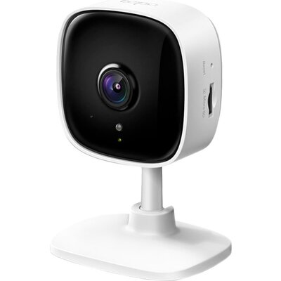 1080P indoor IP camera, supports Night Vision, Motion Detection, 2-way Audio, one Micro SD card slot, works with Google Assistan