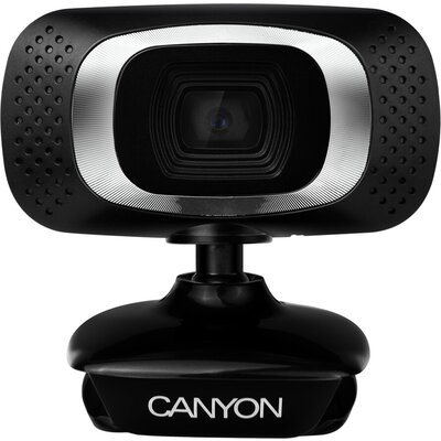 CANYON 720P HD webcam with USB2.0. connector, 360° rotary view scope, 1.0Mega pixels, Resolution 1280*720, viewing angle 60°, ca