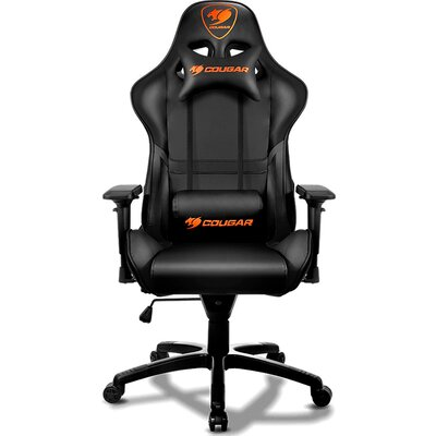 COUGAR Armor Gaming Chair Black, Piston Lift Height Adjustment,180º Reclining,Adjustable Tilting Resistance,3D Adjustable Arm Re