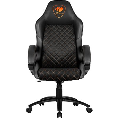 COUGAR Fusion Black Gaming Chair, diamond-check pattern,Class 4 gas lift cylinder,Dependable metal 5-star base,PU wheels,Weight