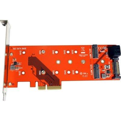 PCI-E Card, 2x SATA M.2 + 1x PCIe M.2, 15.06.2172
