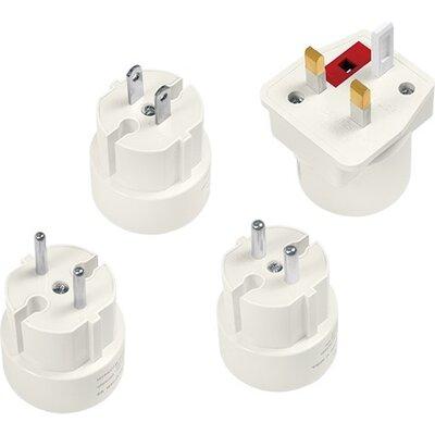 Power Travel Adapter, 4pcs,2A/250V,Logilink PA0186