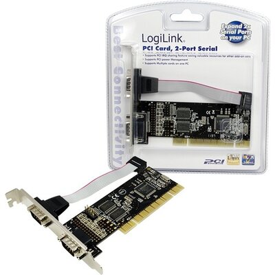 Serial card RS232, 32bit PCI, 2 x Com port, PC0016