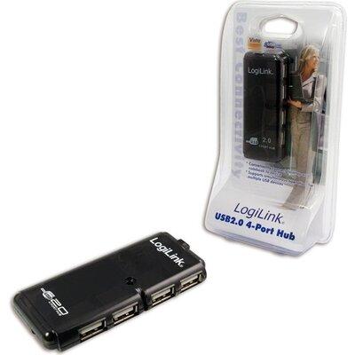 USB HUB 4xUSB2.0, passive, LogiLink UH0001A