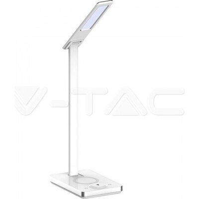 V-Tac LED Наст. Лампа 8603-5W Wireless Charge Бяла